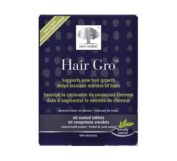 Image 1 du produit New Nordic - Hair Gro comprimés nourrissants pour les cheveux, 60 unités