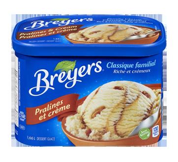 Crème glacée, 1,66 L, pralines et crème