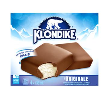 Barre de crème glacée légère à la vanille, 4 x 150 ml