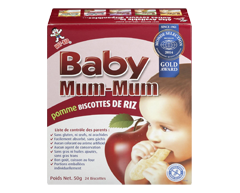 Image du produit Want-Want - Hot-Kid Baby Mum-Mum biscuits de dentition au riz, 50 g, pomme