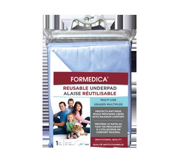 Image du produit Formedica - Alaise réutilisable, 1 unité, 87 x 188 cm, surface imperméable bleue, endos : blanc