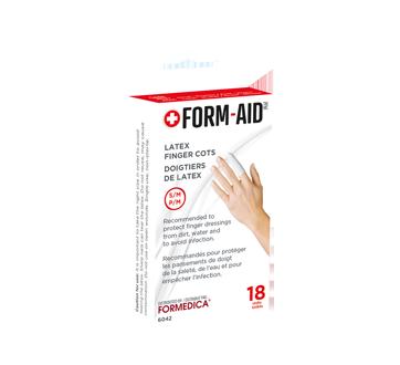 Image du produit Formedica - Doigtiers de latex, 18 unités, petit/moyen, blanc