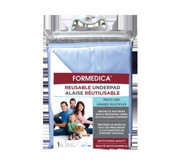Image du produit Formedica - Alaise réutilisable, 1 unité, 87 x 94 cm, surface imperméable bleue, endos : blanc