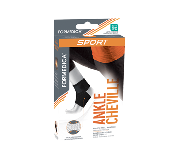 Bandage élastique pour cheville, 1 unité, taille unique, beige