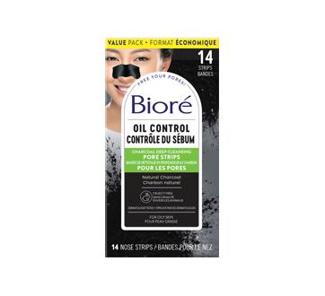 Image du produit Bioré - Bandes de nettoyage en profondeur des pores au charbon, 14 unités