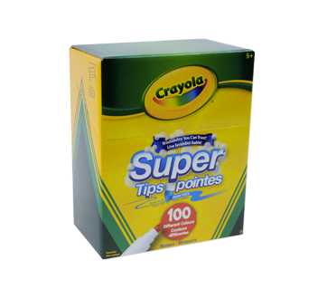 Super Pointes marqueurs lavables, 100 unités