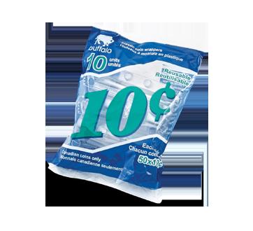 Rouleaux de plastique pour 10 cents, 10 unités