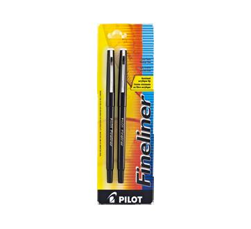 Fineliner stylo-feutre à pointe fine, 2 unités, noir