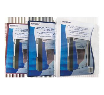 Reliure de présentation avec pochettes intérieures, 1 unité, 1,5 pouce