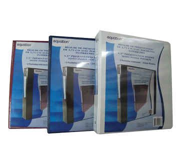 Image 2 du produit Equation - Reliure de présentation avec pochettes intérieures, 1 unité, 1,5 pouce
