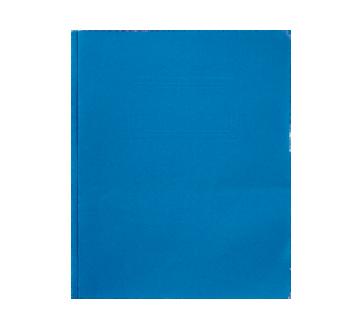 Couverture de rapport à 3 attaches, 1 unité, bleu foncé