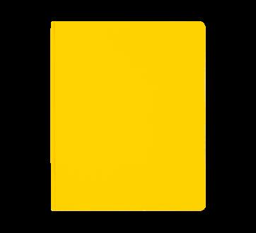 Couverture de rapport à 3 attaches, 1 unité, jaune