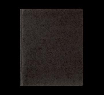Couverture de rapport à 3 attaches, 1 unité, noir