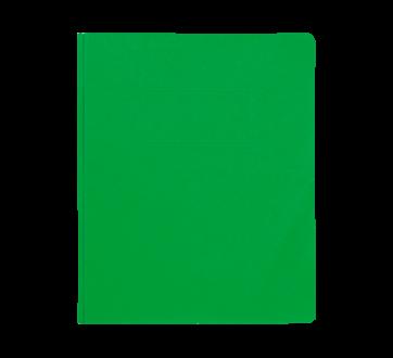 Couverture de rapport à 3 attaches, 1 unité, vert