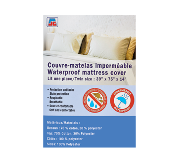 Couvre matelas imperm able 1 unit lit une place pjc - Protege matelas incontinence ...