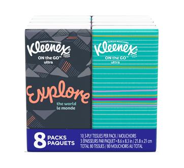 Kleenex de poche, 8 x 10 unités