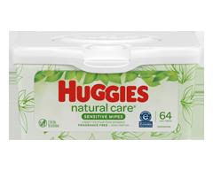 Image du produit Huggies - Lingette Natural Care, 64 lingettes, sans parfum