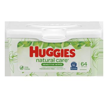 Lingette Natural Care, 64 unités, sans parfum