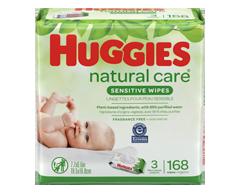 Image du produit Huggies - Lingette Natural Care, 168 lingettes, sans parfum