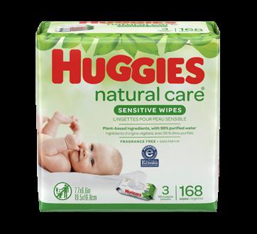 Lingette Natural Care, 168 unités, sans parfum