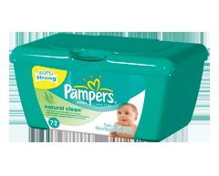 Image du produit Pampers - Lingettes - Natural Clean, 72 serviettes, boîte