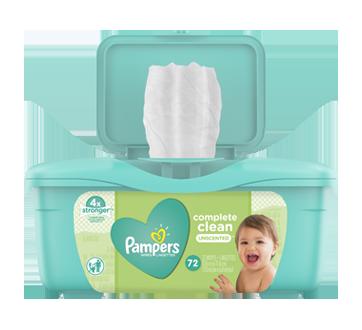 Complete Clean lingettes pour bébés, 72 unités, non parfumées