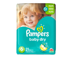 Image du produit Pampers - Couches Baby Dry, 21 couches, taille 6, format jumbo