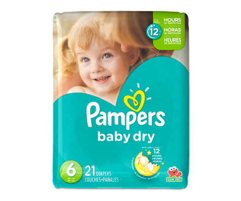 Couches baby dry 21 couches taille 6 format jumbo pampers soins personnels jean coutu - Couches pampers baby dry ...