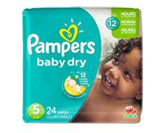Image du produit Pampers - Couches Baby Dry, 24 couches, taille 5, format jumbo