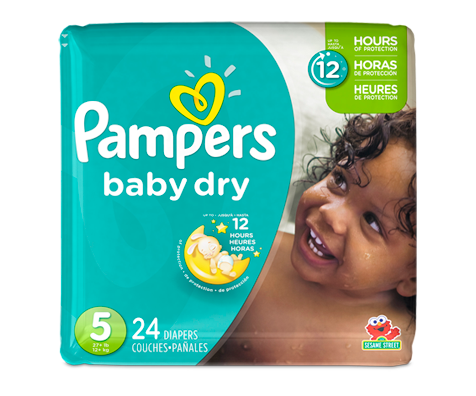 Couches baby dry 24 couches taille 5 format jumbo pampers soins personnels jean coutu - Couches pampers baby dry ...