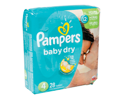 Image du produit Pampers - Couches Baby Dry, 28 couches, taille 4, format jumbo