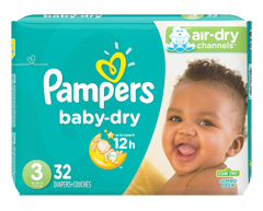 Image du produit Pampers - Couches Baby Dry, 32 couches, taille 3, format jumbo