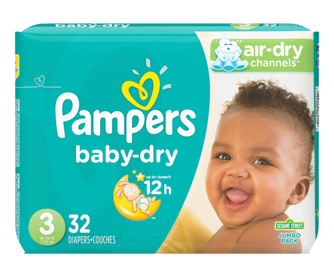 Couches baby dry 32 couches taille 3 format jumbo pampers soins personnels jean coutu - Couche baby dry taille 3 ...