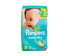 Image du produit Pampers - Couches Baby Dry, 37 couches, taille 2, format jumbo