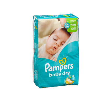 Couches baby dry 44 couches taille 1 format jumbo pampers couche jean coutu - Couche pampers baby dry taille 3 ...