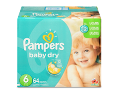 Image du produit Pampers - Couches Baby Dry, 64 couches, taille 6, format super
