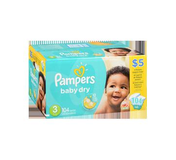 Image 2 du produit Pampers - Couches Baby-Dry, 104 unités, taille3