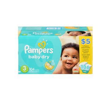 Image 3 du produit Pampers - Couches Baby-Dry, 104 unités, taille3