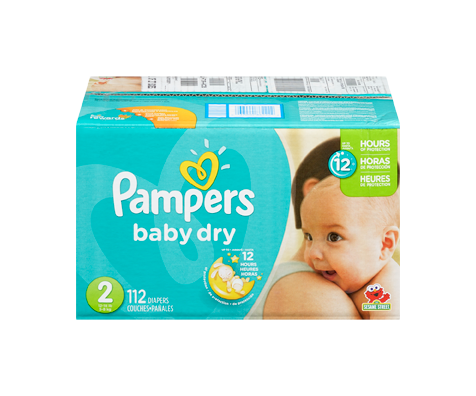 Couches baby dry 112 couches taille 2 format super pampers soins personnels jean coutu - Couches pampers baby dry ...