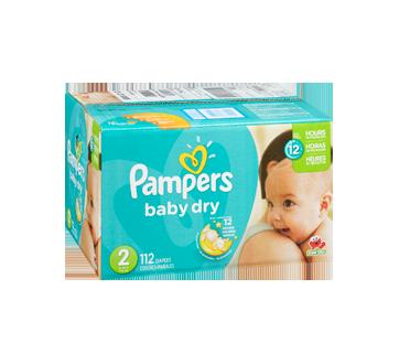 Image 2 du produit Pampers - Couches Baby Dry, 112 unités, taille 2, format super