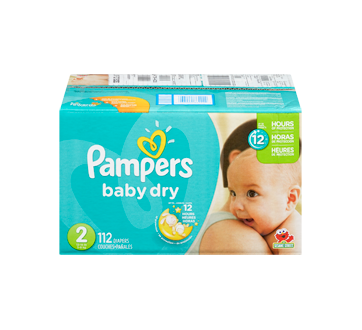 Image 3 du produit Pampers - Couches Baby Dry, 112 unités, taille 2, format super