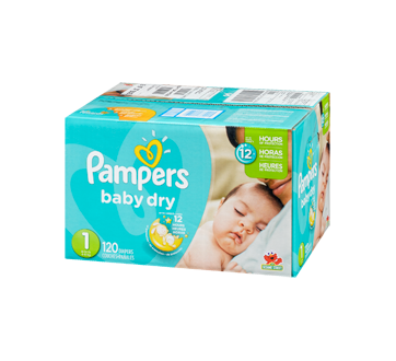 Couches baby dry 120 couches taille 1 format super pampers couche jean coutu - Couche pampers baby dry taille 4 ...