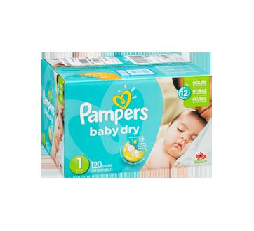 Image 2 du produit Pampers - Couches Baby Dry, 120 unités, taille 1, format super