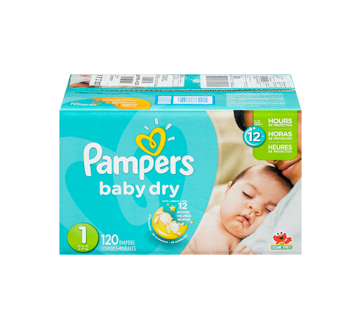 Couches baby dry 120 couches taille 1 format super pampers couche jean coutu - Couche baby dry taille 3 ...