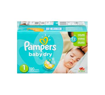 Image 3 du produit Pampers - Couches Baby Dry, 120 unités, taille 1, format super