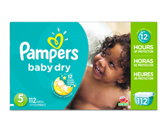 Image du produit Pampers - Couches Baby Dry, 112 couches, taille 5, format géant