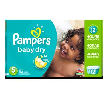 Couches Baby Dry, 112 unités, taille 5, format géant