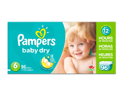 Image du produit Pampers - Couches Baby Dry, 96 couches, taille 6, format géant