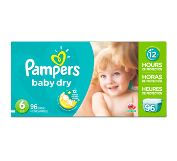 Couches baby dry 96 couches taille 6 format g ant pampers couche jean coutu - Prix couche pampers allemagne ...
