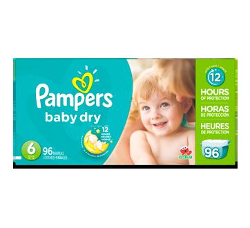 Couches Baby Dry, 96 unités, taille 6, format géant
